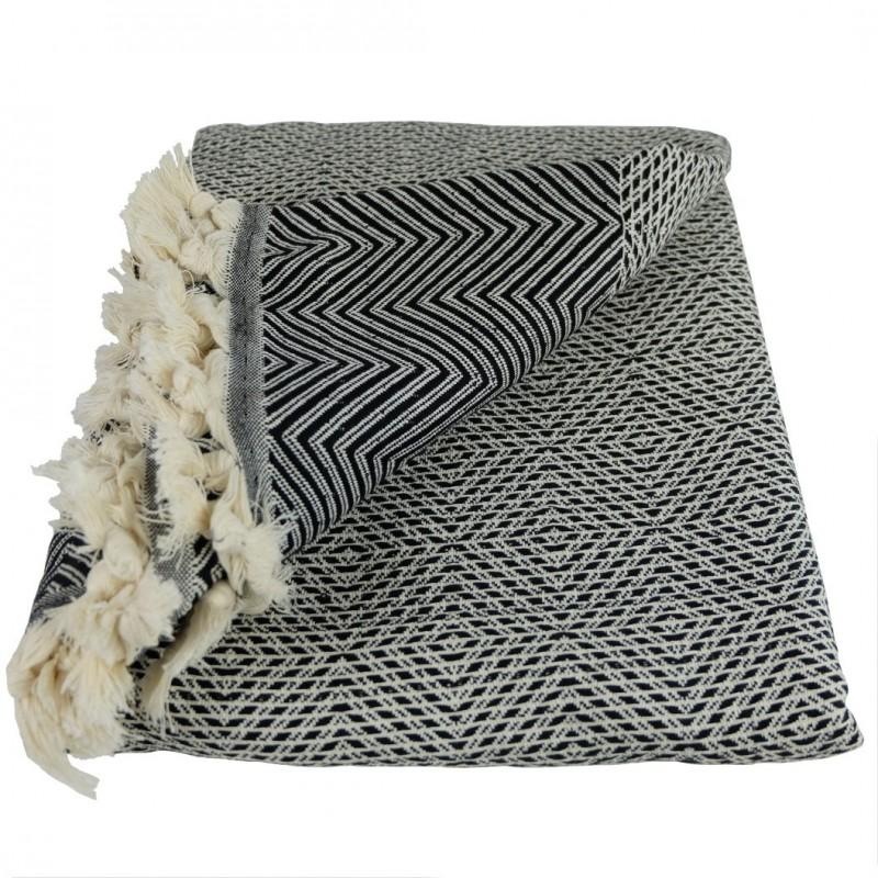 couvre lit noir et blanc couvre lit x cdaffaires so. Black Bedroom Furniture Sets. Home Design Ideas