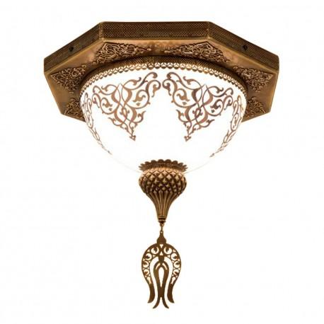 Plafonnier oriental décoré d'arabesques Gengis