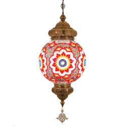 Grand lustre bohème multicolore de style oriental Yardam