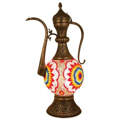 Grande lampe merveilleuse orientale en mosaïque Harisha