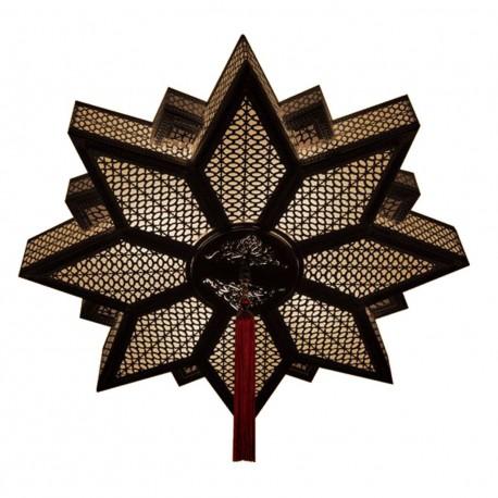 Plafonnier étoile oriental en laiton Yildiz