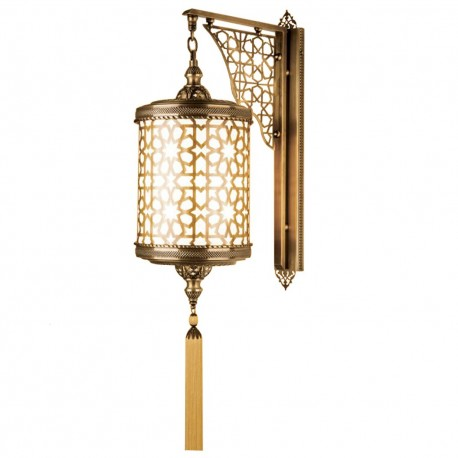Lanterne marocaine murale en laiton Sihla