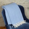 Dessu de lit ethnique Safys bleu