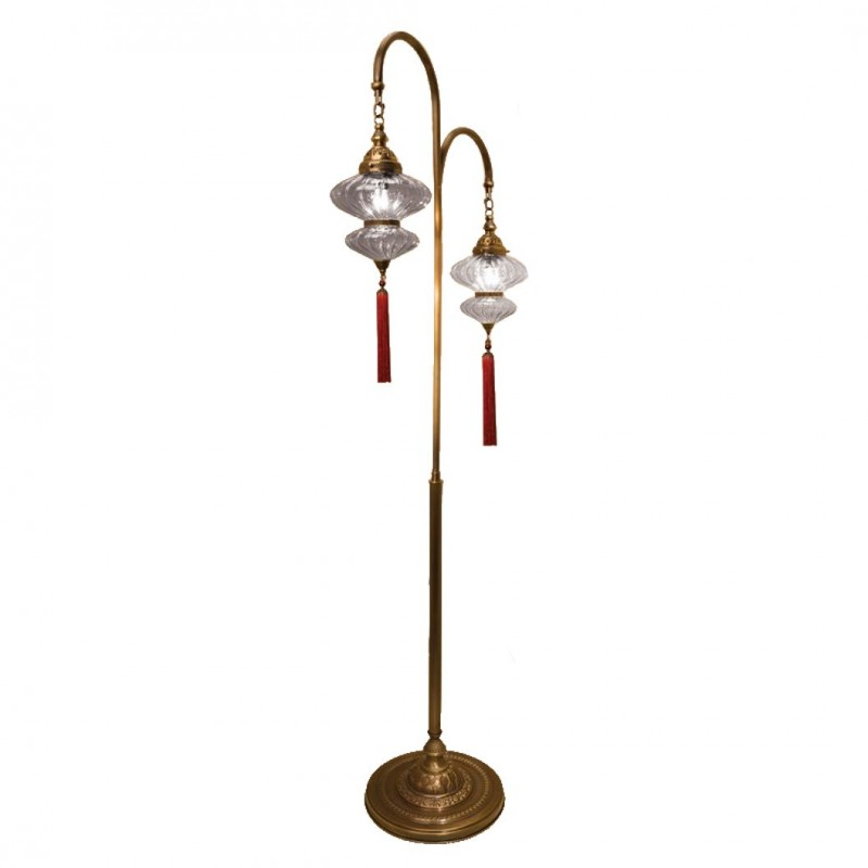 double lampadaire oriental mihrimah. Black Bedroom Furniture Sets. Home Design Ideas
