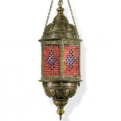Lustre artisanal oriental rouge Halki