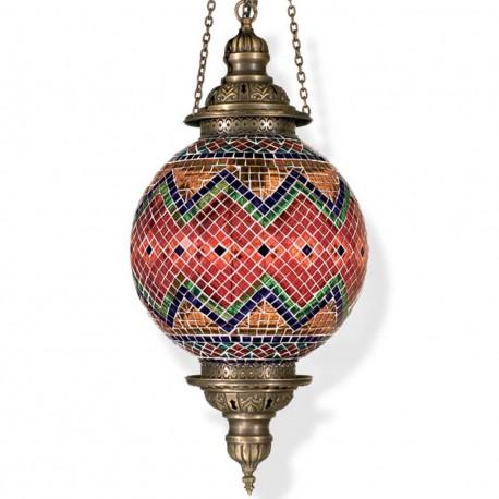Lustre oriental en mosaique Kefia