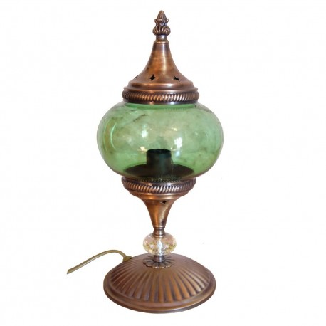 Lampe de bureau orientale verte Akaïa