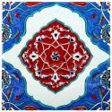 Carreau artisanal d'Iznik Galat 20x20