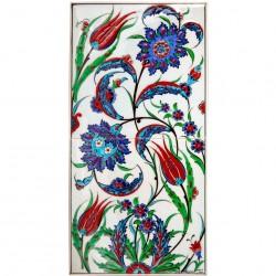Tableau oriental décoratif en céramique Kaymak 20x40
