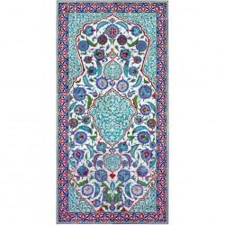 Grande fresque orientale en faïence ottomane Sidia 120x240