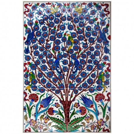 Tableau arbre de vie coloré Hayat 40x60