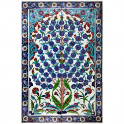 Tableau avec arbre de vie et frise Hayat 40x60