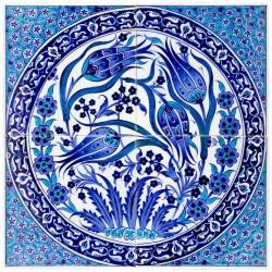 Tableau carré fleuri Tria 40x40