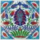 Petite fresque fleurie orientale Doujalia 40x40