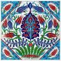 Petite fresque fleurie Doujalia 40x40
