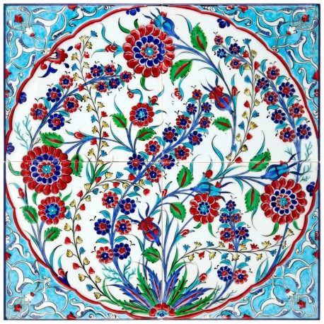 Carreaux de faïence orientale ottomane Dinima 40x40