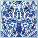 Tableau à fleurs bleues Ounam 40x40