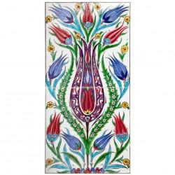 Tableau bohème fleuri Oudar 20x40
