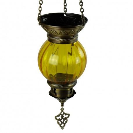 Lanterne ethnique jaune Inara
