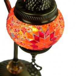 Lampe mosaïque orange Irouna