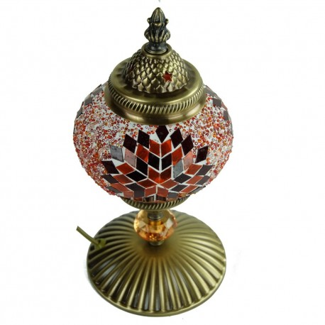 Lampe turque orange Isnun