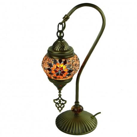 Lampe de chevet ethnique marron Irouna, décoration ethnique chic
