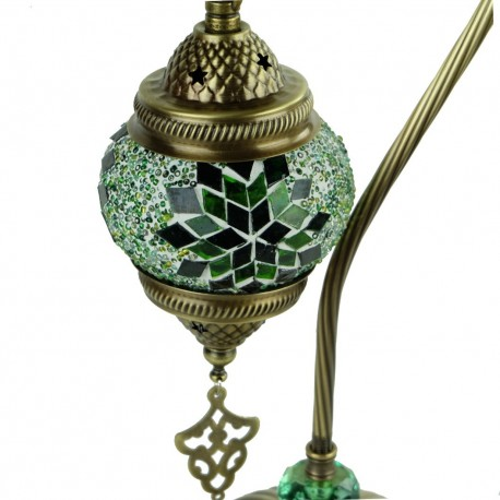 Lampe orientale à poser verte Irouna, déco originale