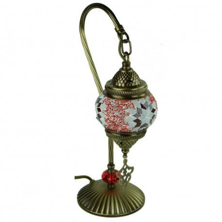 Lampe turque en mosaïque rouge Irouna par KaravaneSerail