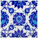 Carreau de faïence bleu et blanc Chatiam 20x20