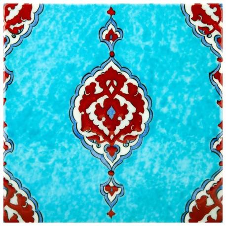 Faïence orientale, carreau décoratif Aranat 20x20