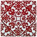 Faïence décorée d'arabesques rouge Zeneshi 20x20