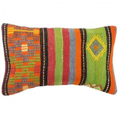 Coussin coloré en kilim turc Lumbar C038 par KaravaneSerail