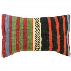 Coussin deco en kilim ethnique vintage Lumbar C045, décoration orientale