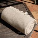 Plaid beige en coton Safys