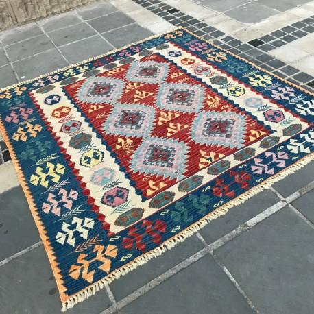 Tapis ethnique carré, décoration orientale K06