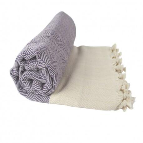 Plaid géométrique design violet Marisys