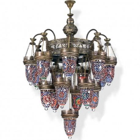 Lustre oriental en mosaïque ethnique Shezeh