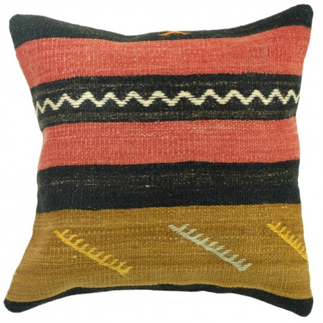 Coussin déco en kilim couleur pastel Kolon C071, décoration orientale