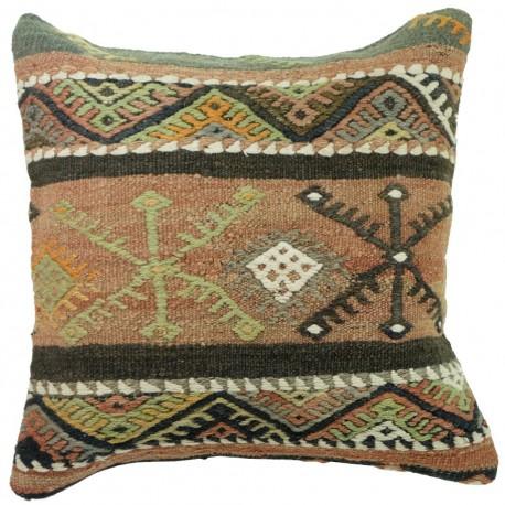 Coussin décoratif en kilim Kolon C021, décoration ethnique chic