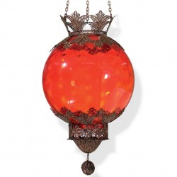 Suspension filigrane Bidal rouge