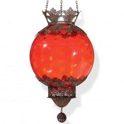 Suspension filigrane artisanale rouge Bidal