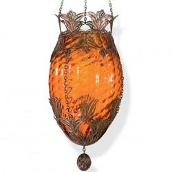 Lampe oeuf artisanale orange Aribal