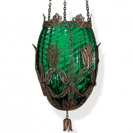 Suspension oeuf colorée Ganalia verte