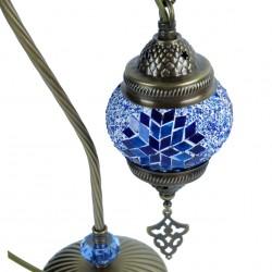 Lampe de chevet orientale Irouna bleue