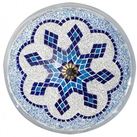 Plafonnier oriental bleu Eshtan, Applique orientale bleue