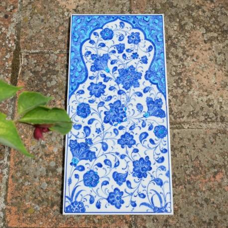 Carreaux bleus et blancs de faïence ottomane Eré