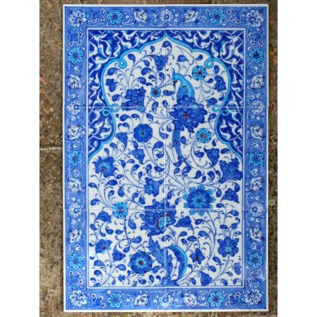 Tableau en céramique bleue orientale Istria 40x60