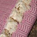 Plaid exotique de couleur prune Safys