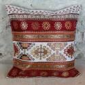 Coussin décoratif Kapadokia ivoire et rouge