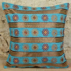 Coussin Thracia turquoise